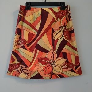 Talbots • Floral A-line Skirt Size 10P